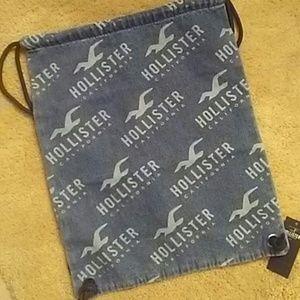 Hollister Denim Knapsack Bag NWT